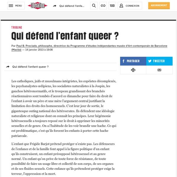 Qui défend l'enfant queer ?
