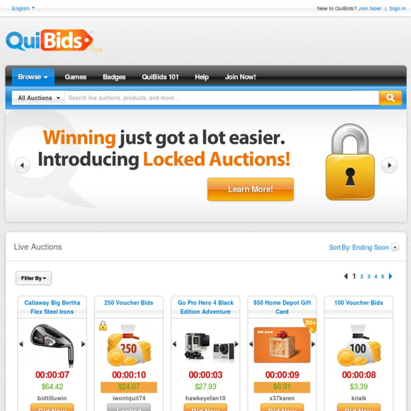 QuiBids - Shopping Redefined