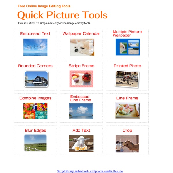 Herramientas Editores rápidos de imágenes