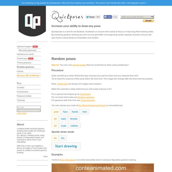 Online gesture drawing tool