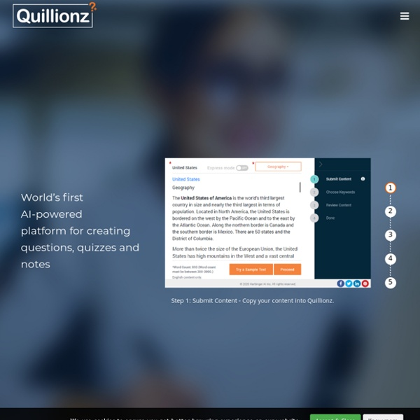 Quillionz - World's First AI-Powered Question Generator