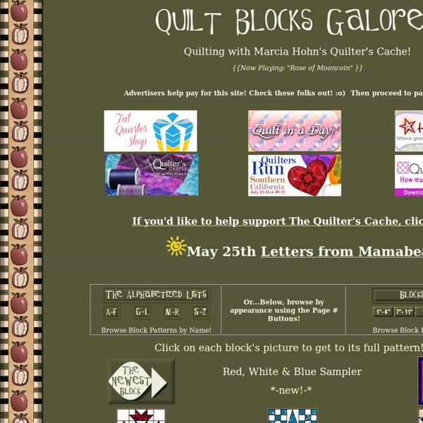 Quilt Blocks Galore!