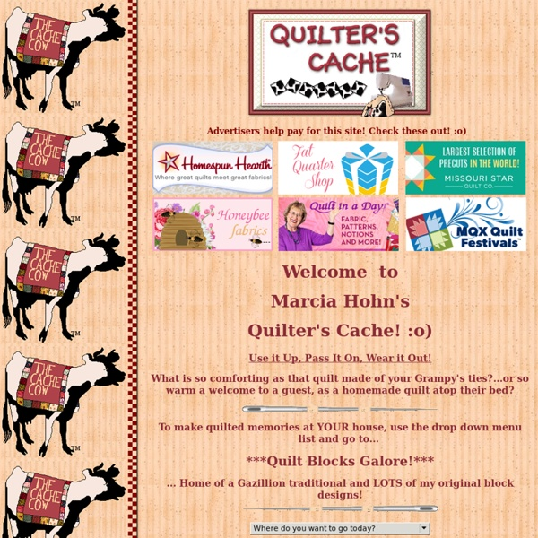 The Quilter's Cache - Marcia Hohn's free quilt patterns!