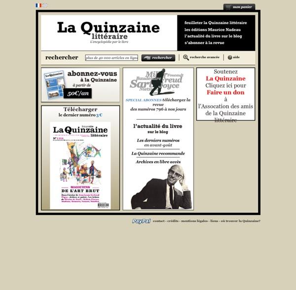 La Quinzaine Littéraire : accueil