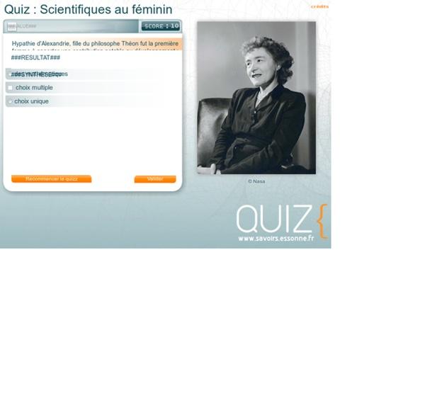 Quiz : Scientifiques au féminin