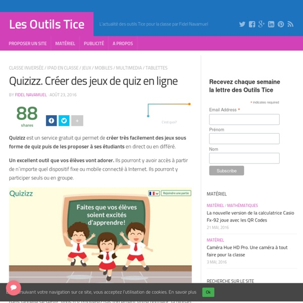 Quizizz. Créer des jeux de quiz en ligne – Les Outils Tice