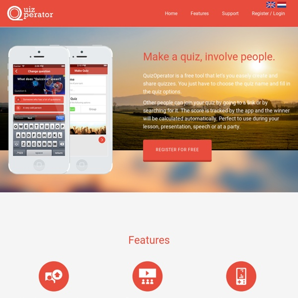 QuizOperator - Make a quiz, involve people.