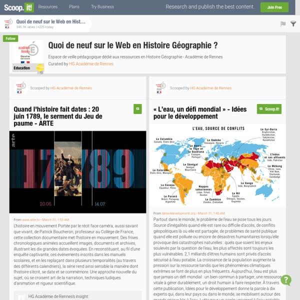 Quoi de neuf sur le Web en Histoire Géographie ?