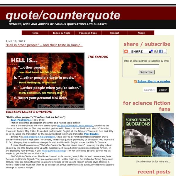 Quote/Counterquote