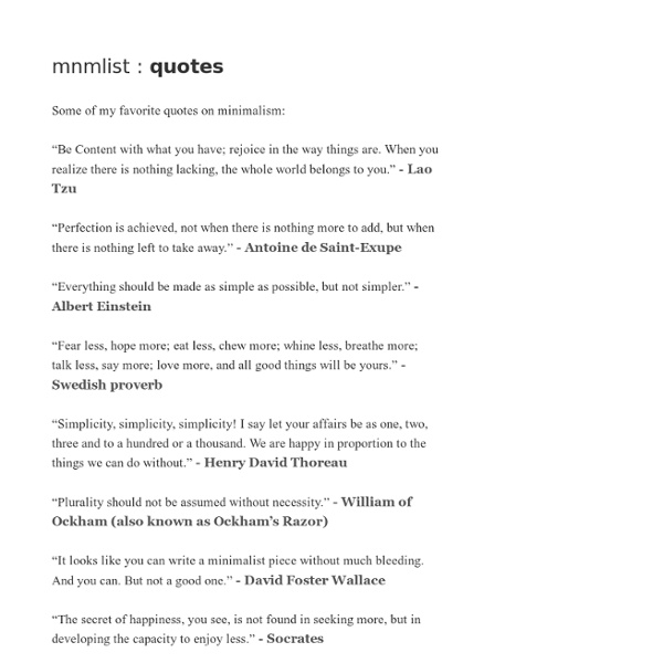 » quotes on minimalism