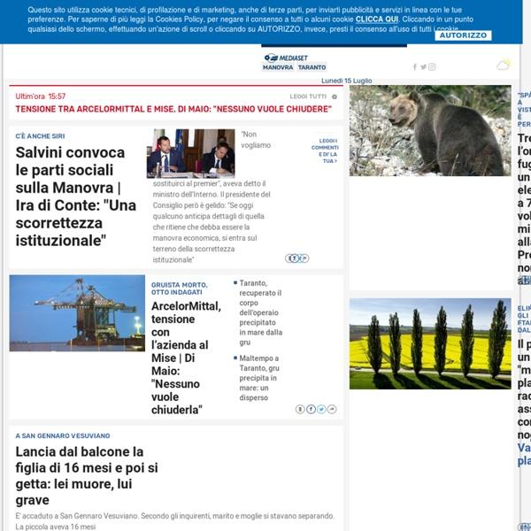 TGCOM24 - Quotidiano di News Mediaset. Notizie del giorno, foto, video e aggiornamenti ora per ora