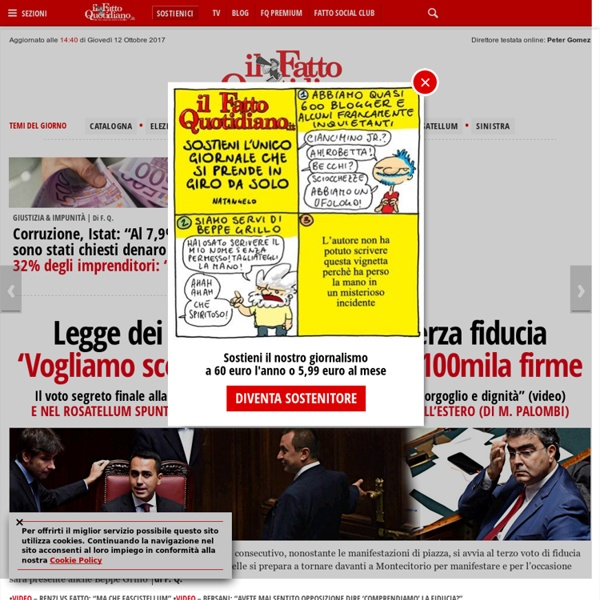 Il Fatto Quotidiano - News su politica, cronaca, giustizia ed economia