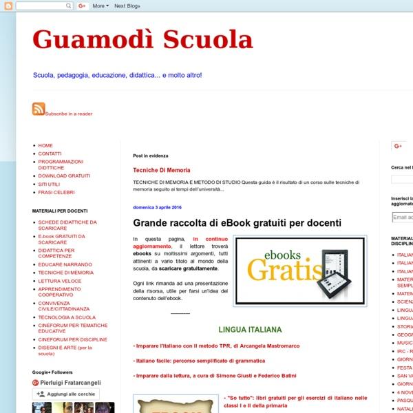Grande raccolta di eBook gratuiti per docenti