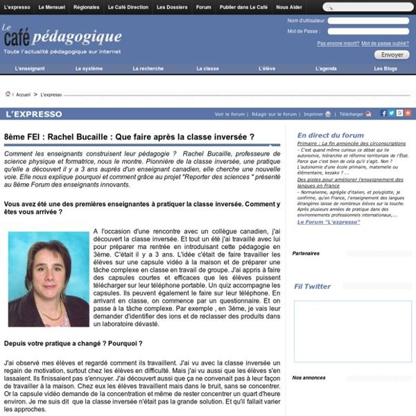 8ème FEI : Rachel Bucaille : Que faire après la classe inversée ?