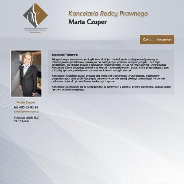 Radca prawny Lubin. Pomoc Prawna Marta Czuper