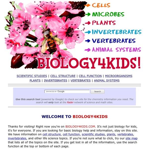 Rader's BIOLOGY 4 KIDS.COM