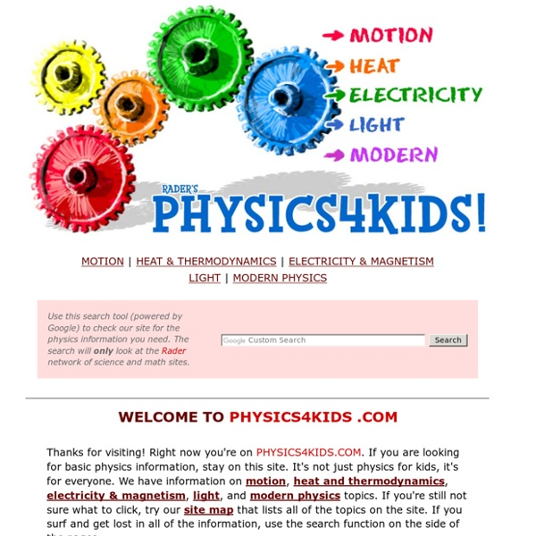 Rader's PHYSICS 4 KIDS.COM