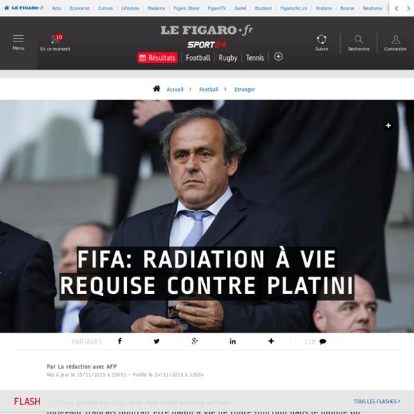 Fifa: radiation à vie requise contre Platini - Etranger - Football
