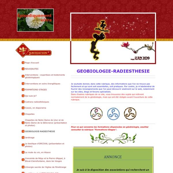 GEOBIOLOGIE-RADIESTHESIE - fleurdevie57s jimdo page!