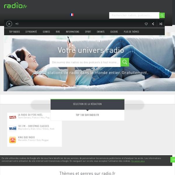 Radio en ligne, plus de 7000 stations radio sur internet : radio.fr - écoutez, c'est simple