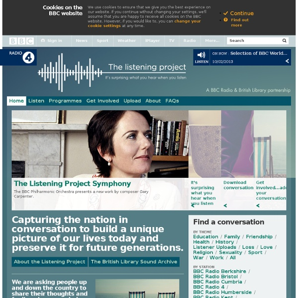 Radio 4 The Listening Project - Home