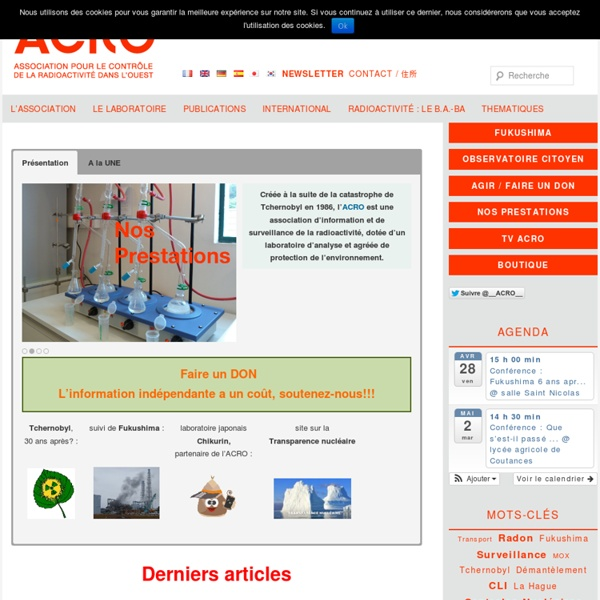 ACRO association pour le contrôle radioactivité dans l'ouest