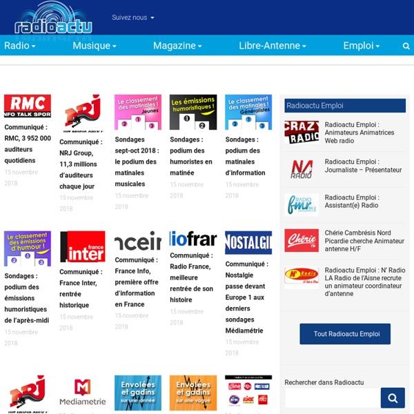 RadioActu - L'actualité indépendante sur la radio fm, numérique, webradios