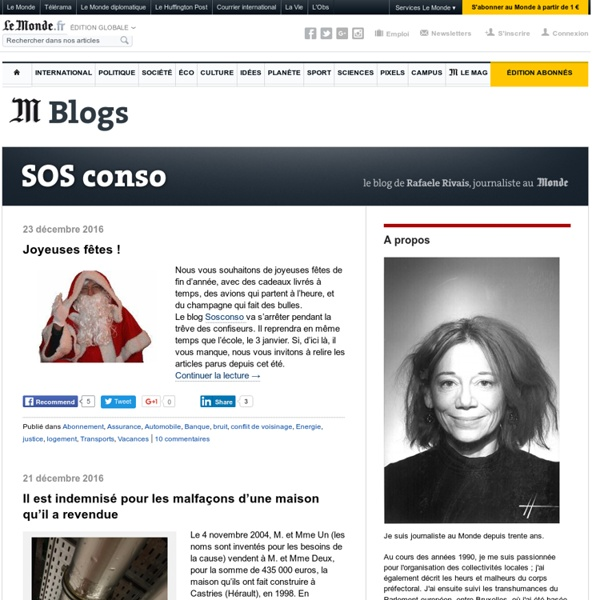 Le blog de Rafaële Rivais, journaliste au Monde