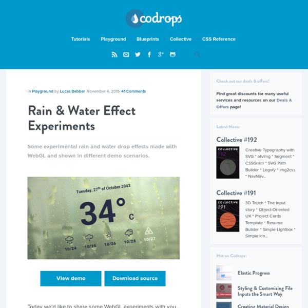 Rain & Water Effect Experiments