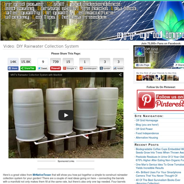 Video: DIY Rainwater Collection System