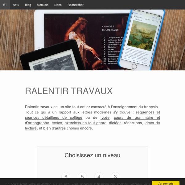 Ralentir travaux- Site de Yann Houry