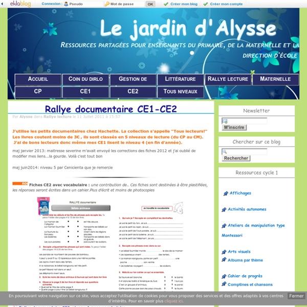 Rallye documentaire CE1-CE2