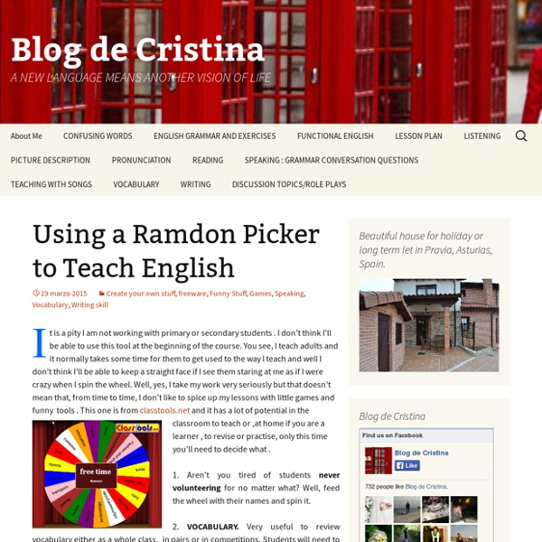 Using a Ramdon Picker to Teach English