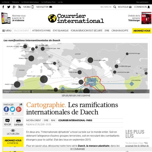 Cartographie. Les ramifications internationales de Daech