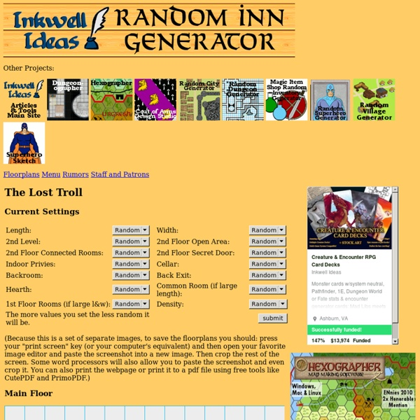 Random Inn/Tavern Generator