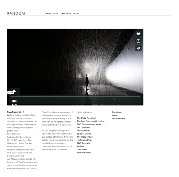 Random International » Rain Room