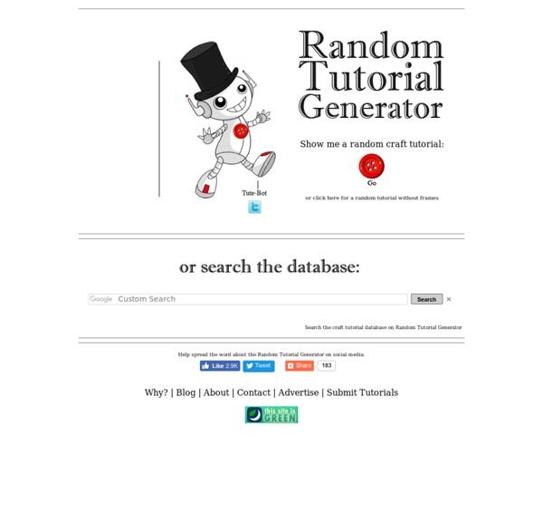 Random Tutorial Generator