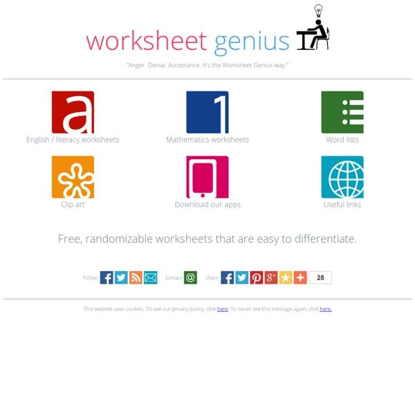 Worksheet Genius free printable randomized worksheets – Worksheet Genius