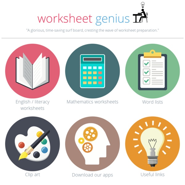 Worksheet Genius - free printable worksheets that can be ...