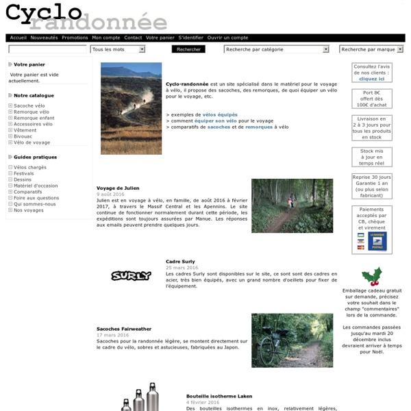 Cyclo-randonnée : matériel pour le voyage à vélo