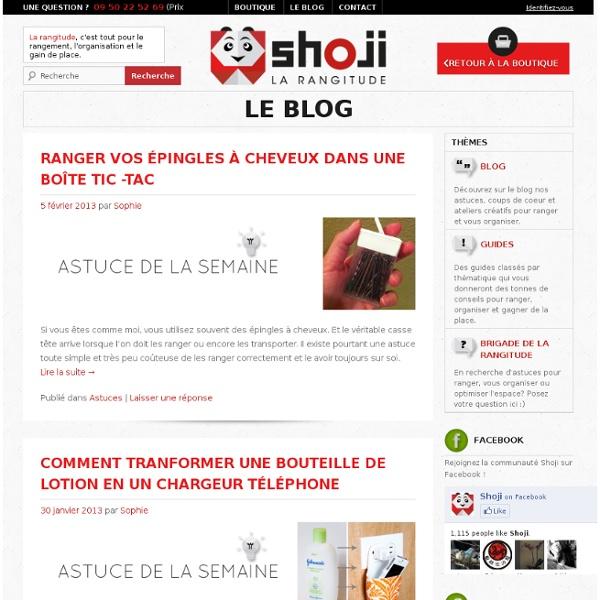 Blog Shoji : Rangement, organisation et gain de place pour la maison