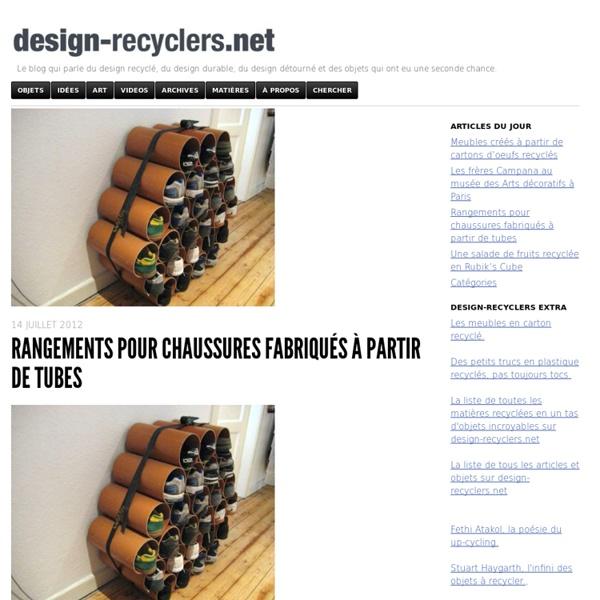 Rangements pour chaussures fabriqués à partir de tubes - design-recyclers