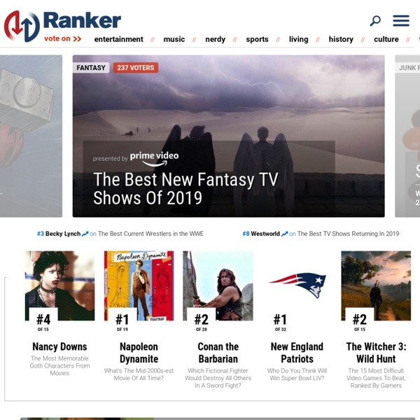 The Best Top 10, Top 100 & More Lists: List Making Is Easy at Ranker