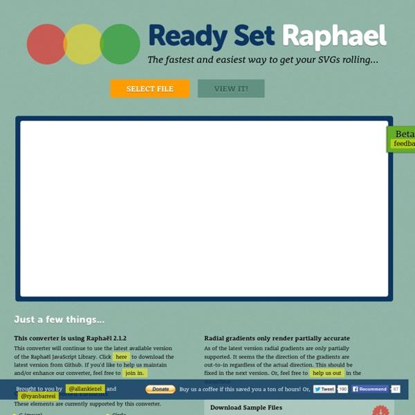 SVG To RaphaelJS Converter - Ready.Set.Raphael. Beta 2