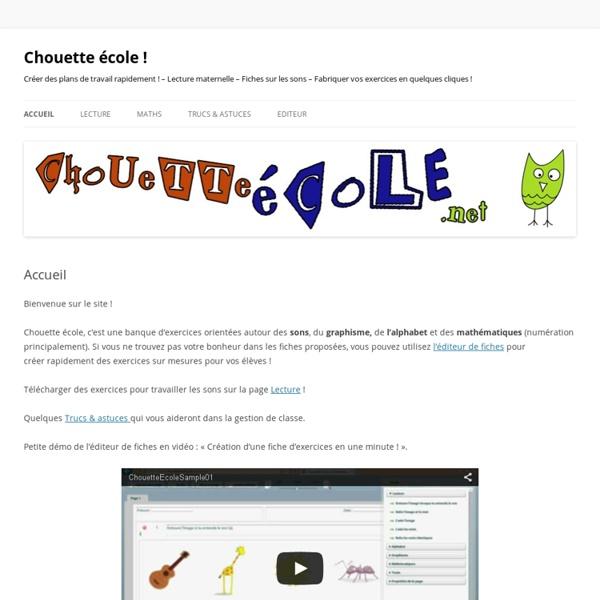 Lecture maternelle – Fiches sur les sons – Fabriquer vos exercices en quelques cliques !