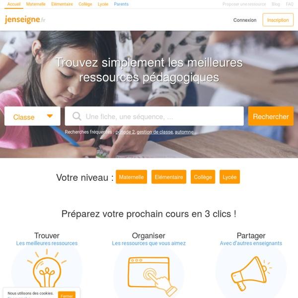 Jenseigne.fr - Trouvez rapidement les meilleures ressources pédagogiques
