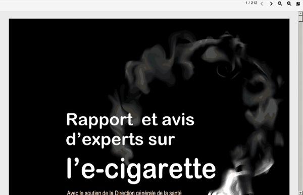 Rapport et avis d'experts sur l'e-cigarette