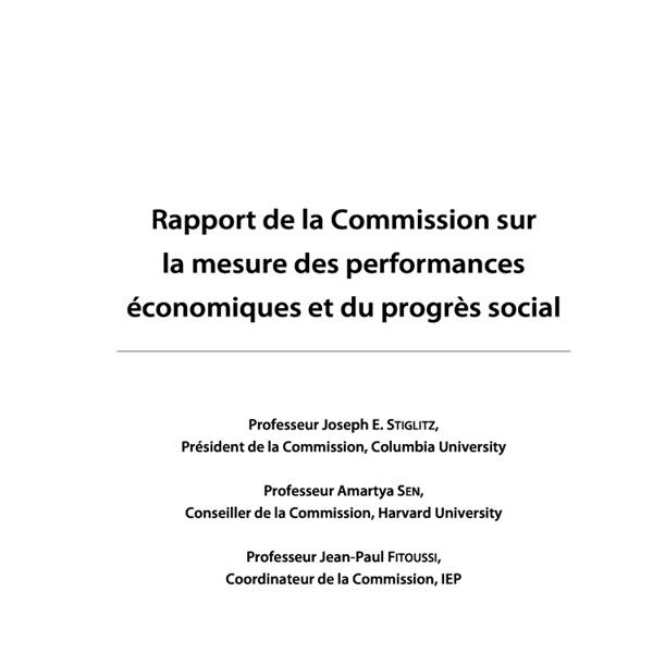 Rapport[mesure des performances eco et du progrès social]