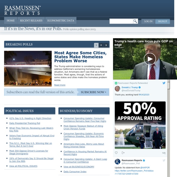 Rasmussen Reports™: The Most Comprehensive Public Opinion Data Anywhere