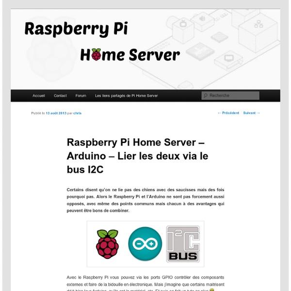 Raspberry Pi - Arduino - Lier les deux via le bus I2C